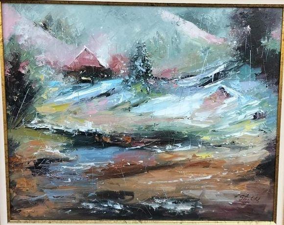 Peisaj de iarnă  -Vasile Stratulat