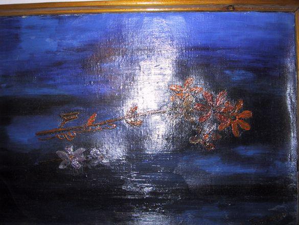 Цветя - картина с маслени бои