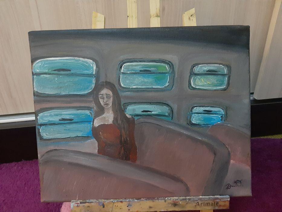 Tablou pictura Fata din tren