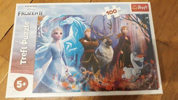 НОВ Disney Frozen 2 Леденото Царство пъзел 100 части