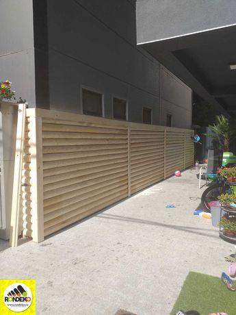 Gard din Lemn Rotund MODERN - Gradina ta = Oaza ta de liniste!