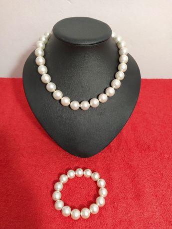Colier Perle de cultura / margele + bratara Vintage Uk #30