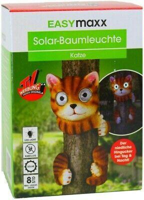 Лампа във формата на котка EASYmaxx Solar-LED-Leuchte Solarleuchte Bau