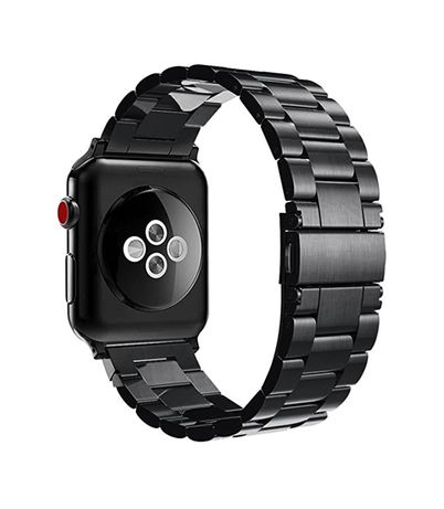 Метална гривна за Apple watch 38, 40, 42, 44 mm - черна, Black