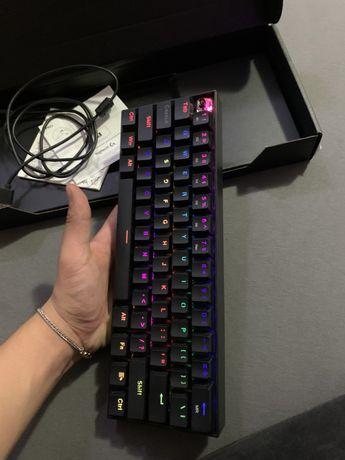 Tastatura gaming mecanica Redragon Draconic, Bluetooth, Iluminare RGB,