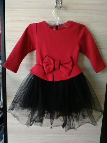 Червена бебешка рокличка на Contrast