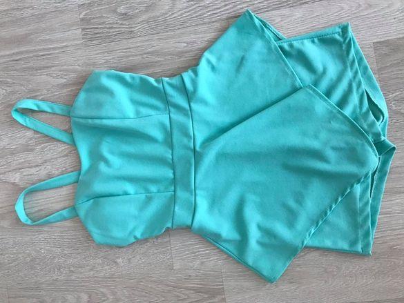 Къс летен гащеризон тип пола-панталон, С размер