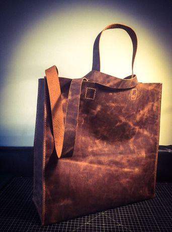 Чанта от естествена кожа ръчна изработка