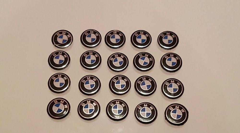 Emblema logo carcasa cheie bmw e90 e91 e60 e61 f10 e81 e83 e87 Resita - imagine 1