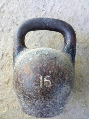Продам гирю советскую 16 кг
