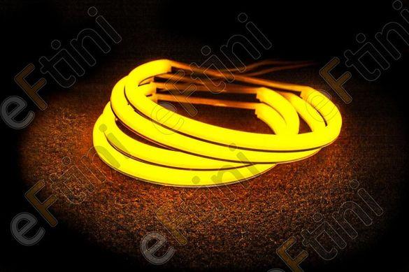 "LED SMD Ангелски очи ""STRONG POWER"" ЗА BMW E46 Купе Фейслифт - жълти"