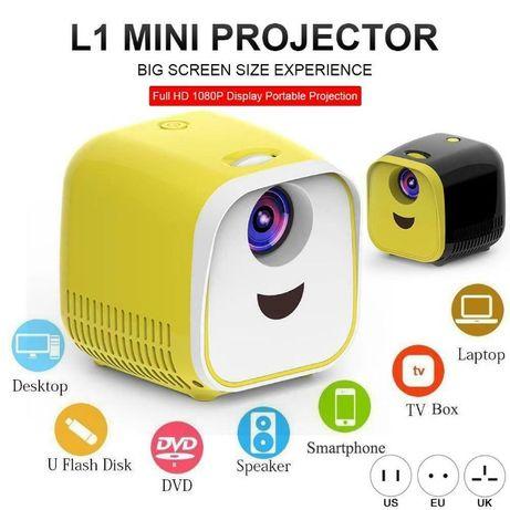 L1 Мини Проектор 1080P Full HD LED Movie Projector Домашен театър