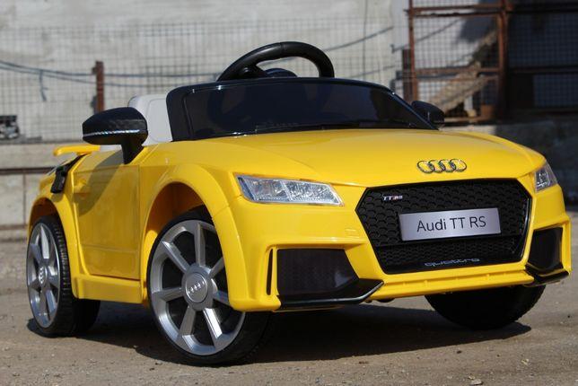 Masinuta electrica pentru copii Audi TT RS 2x 25W 12V #Galben