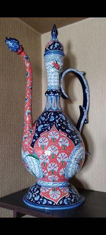 Кувшин  керамика ручная роспись