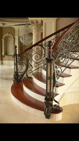 Лестницы из дерева с коваными перилламиРАССРОЧКА
