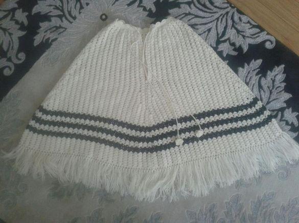 Ръчно плетено пончо