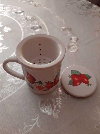 Кружка для заваривания чая и трав - 500тг