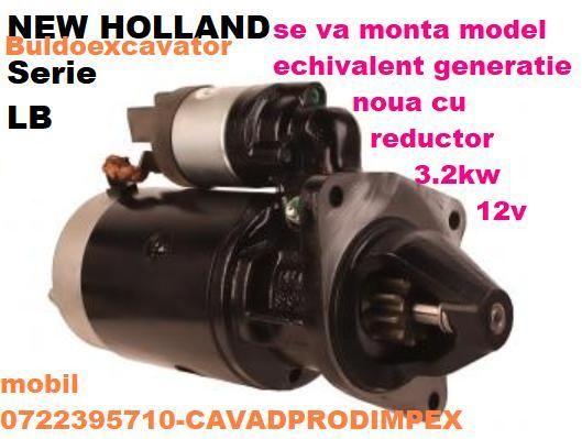 Electromotor pentru buldoexcavator NEW HOLLAND serie LB cu reductor