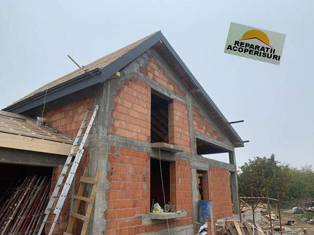Reparatii acoperisuri montaj tigla metalica placari polistiren
