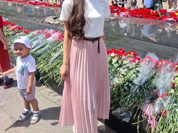 Юбка | юбка плиссе | юбка розовая | юбка летная