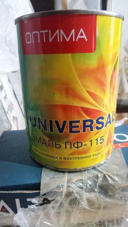 Белая Краска эмаль ПФ-115 ОПТИМА UNIVERSAL