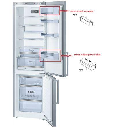 Sertare -Combina frigorifica Bosch KGE39AL40, Clasa A+++ 339 L