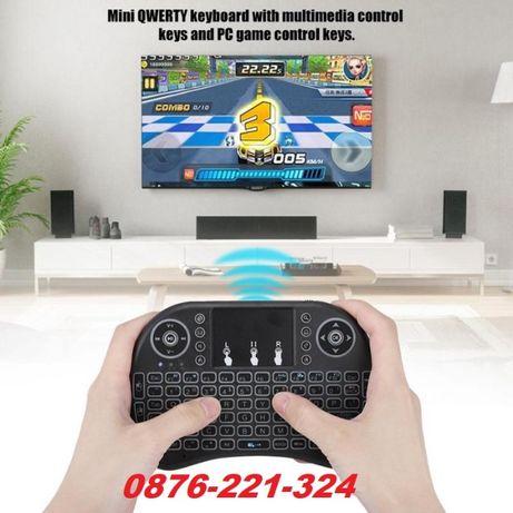 Мини безжична wifi клавиатура с мишка touchpad за телевизор тв pc