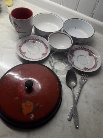 Посуда рвзная советская.