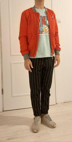 Geaca Bomber Zara si pantaloni raiati