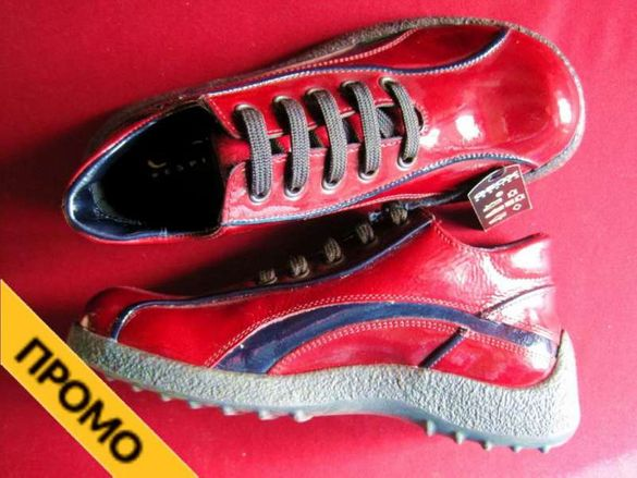 Промоция! Детски обувки Geox, лачена повърхност, номер 35, червени