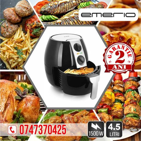 Friteuza cu aer cald, 4,5 litri, 1500W, Emerio Air Fryer