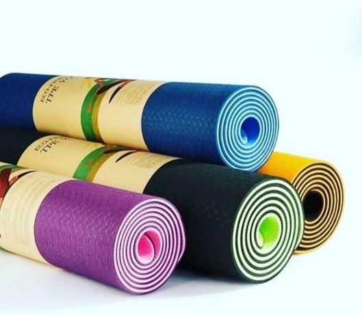 Коврик для фитнеса йоги  PVC