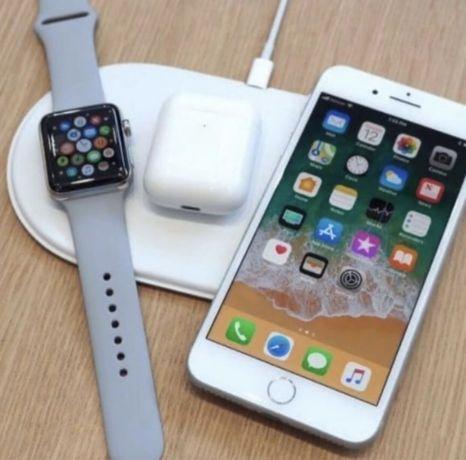 Безпроводная беспроводна зарядка Наушникий Часы Телефон3в1 Купит купит