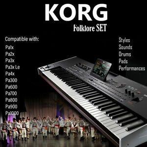 *Korg*Set*Pyoner Original Style Pa4/300/600/700/800/900/1000/1/2/3