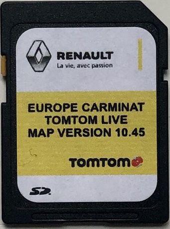 RENAULT SD Card Carminat TOMTOM LIVE 10.45 Europa Навигационна Сд Карт