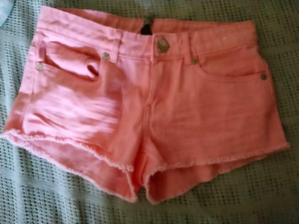 Pantaloni scurti blug roz