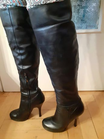 cizme sexy piele naturala peste genunchi