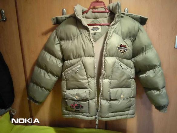 Олекотено яке и зимно яке за момче.