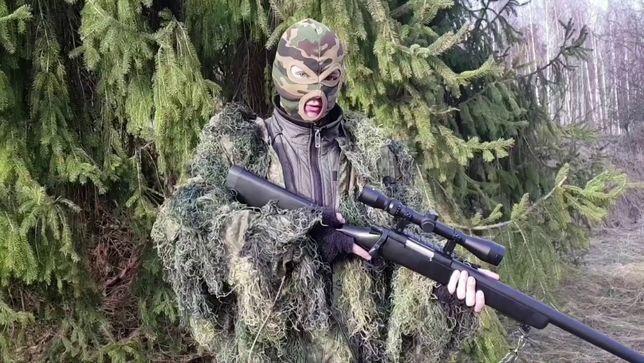MODEL-NOU Modificat PUSCA-Sniper AWP Airsoft 4.3JOULI 6.08mm PUTERNICA