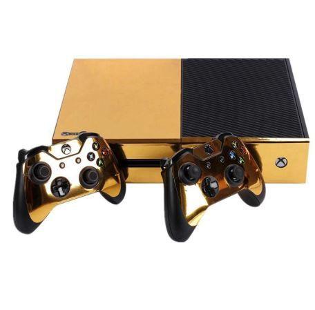 Autocolant Gold Glossy pentru controllere si consolă Xbox ONE
