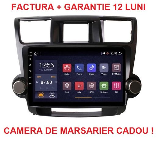 Navigatie Toyota Highlander ( 2009 - 2014 ) , Android Garantie , Noua