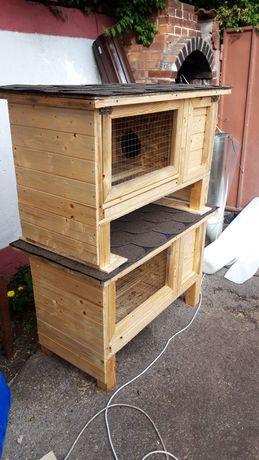 Cusca iepuri cu vizuina tavă și grilaj dejecti 130/50/50