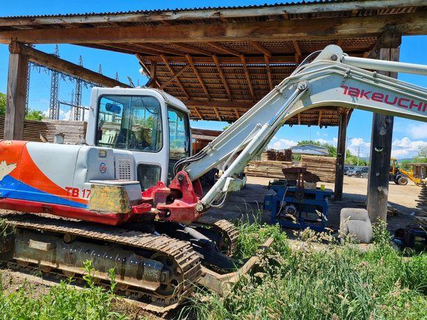 Excavator Takeuchi TB175 sau schimb cu camion forestier