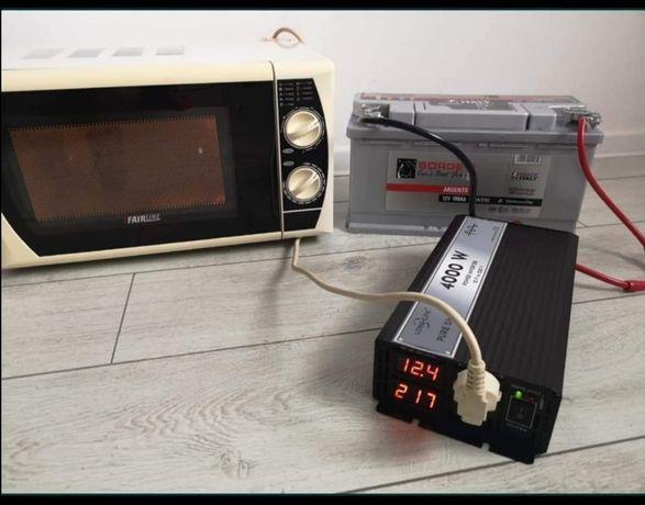 Invertor 12V /24V - 220 V SINUS PUR  duce orice electrocsanic rulota