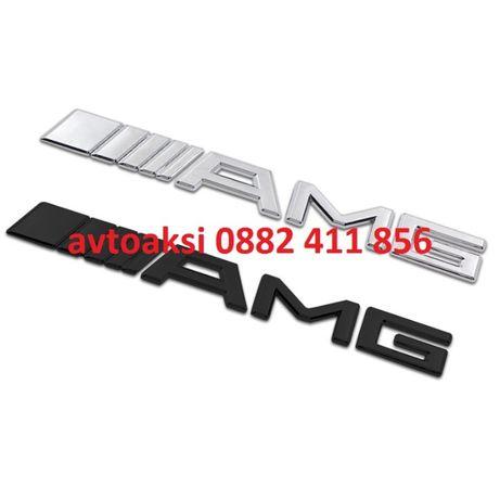 Емблема АМГ/AMG черна мат/никел