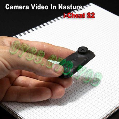 Casca de Copiat cu Mini Camera Video in Nasture i-Cheat - fara Telefon