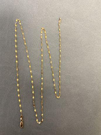 Золотая цепочка цепь с кулоном можно или без красное золото 585 россия