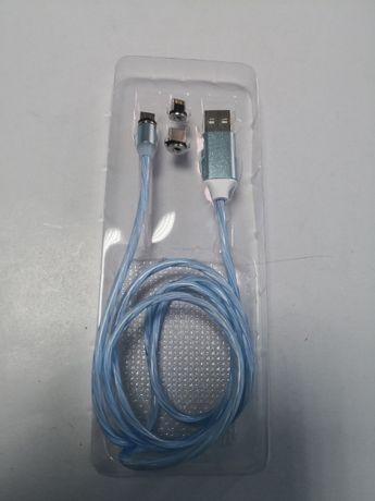 Cablu usb - iphone/micro usb/tip c magnetic