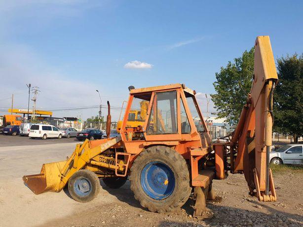 Tractor Case, incarcator frontal, cupa spate, buldoexcavator, buldo