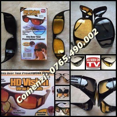 Set 2 ochelari HD Vision zi noapte protectie UV soferi sofat conducere